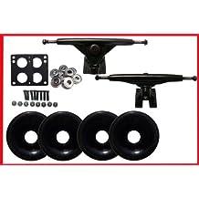 LONGBOARD SKATEBOARD 180 TRUCKS 70mm black WHEELS Bearing KIT(scs-ltkcom-70bk)