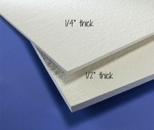 "8x12 FiberFrax Fiber Board Choice 1/4"" or 1/2"" Kiln Fusing Mold Making Supplies (1/4"")"
