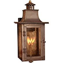 Titan Lighting Maryville 20 In Outdoor Washed Pewter Gas Wall Lantern