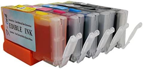 F-INK - Cartucho de Tinta Recargable y Comestible para impresoras Canon PGI-550 CLI-551, Compatible con PIXMA iP7250 MG5450 MG5550 iX6850 MX725 MX925 ...