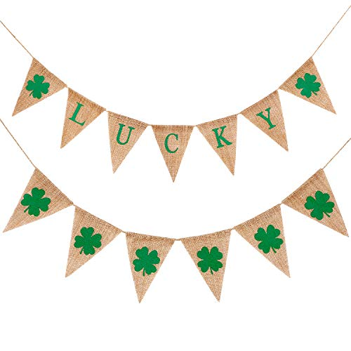TecUnite 2 String St. Patrick's Day Banners Lucky