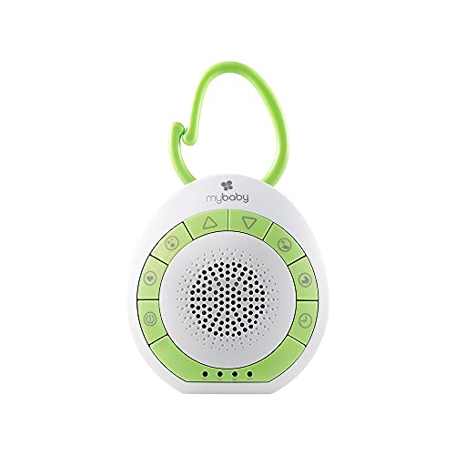 MyBaby SoundSpa On-The-Go-Portable White Noise Machine, 4 Soothing Sounds with 15, 30, and 45-Minute Auto Shutoff…