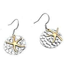 Starfish with Hammered Disc Earrings by Cape Cod Jewelry-CCJ