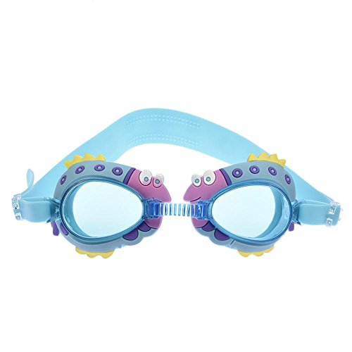 Adjustable Swimming Goggles Anti-Fog Waterproof UV Protection No Leak Soft Silicone Frame and Strap Toddler Swim HD Goggles with Earplug for Adult Men Women Youth Kids Child