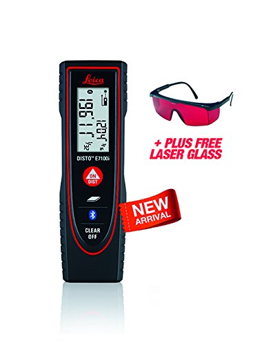 Bluetooth Enabled Windows Laser (Leica DISTO E7100i 200ft Laser Distance Measure with Bluetooth, Black/Red)