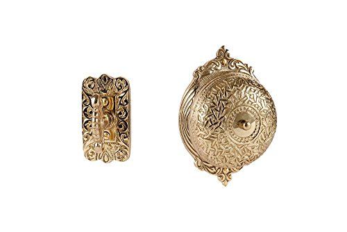Rice Twists (A29 Solid Brass Victorian Style Rice Twist Door Bell, Polished Brass Finish)