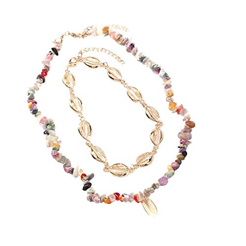 Handmade Necklace Women Pearl Shell Pearl Leather Rope Necklace Style Bohemian Style Jewelry Pendant(Multicolor)
