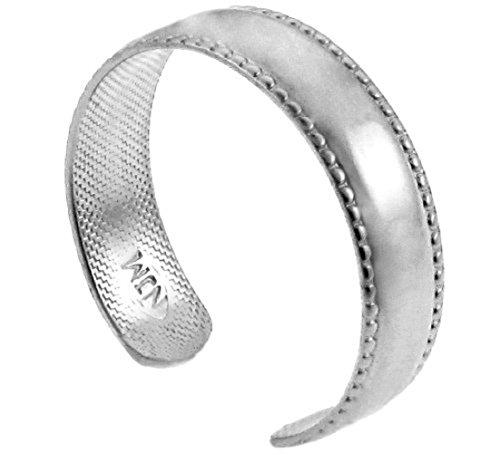Classic 14k White Gold Bold Milgrain Edge Toe Ring by More Toe Rings