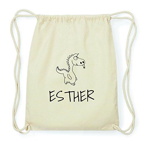 JOllipets ESTHER Hipster Turnbeutel Tasche Rucksack aus Baumwolle Design: Drache