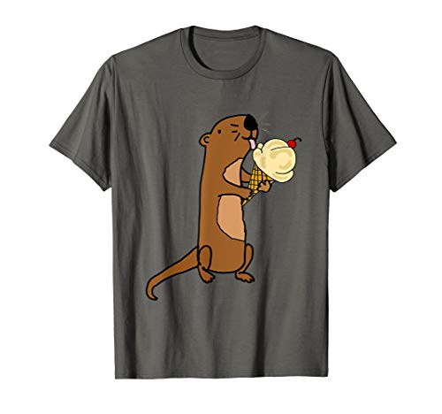 Smilenowtees Funny Sea Otter eating Ice Cream T-shirt