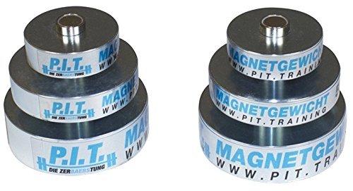 P.I.T..-Die ZerBAERStung Magnet Hantelscheiben Set Für Kurzhanteln Und Langhantel/Gewichte Mit 0,25Kg, 0,5Kg Und 1,0Kg / Durch Magnete Einfach An Einer Hantel Oder An Fitnessgeräte Zu Befestigen