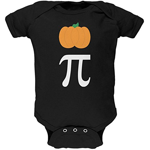 Halloween Math Pi Costume Pumpkin Day Soft Baby One Piece Black 12-18 M - Pi Day Costumes