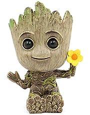 Leegicst Groot Treeman Planter Flower-Pot - Tiny Succulents Plants Pot of Galaxy Guardians Treeman – Pen Pot Pencil Holder (Flower)