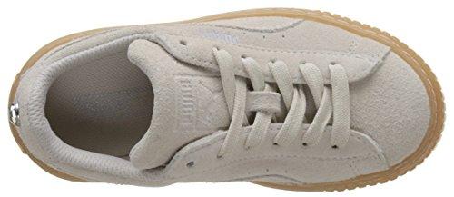 Puma Unisex-Kinder Suede Platform Jewel PS Sneaker Weiß (Whisper White)