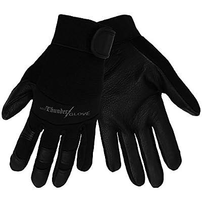 Global Glove SG7001 woThunder Glove(TM)( Deerskin Mechanics Sport Glove with Elastic Cuff, Work, Large, Black