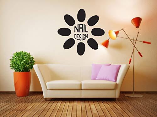 Vinyl Sticker Nail Salon Logo Sign Design Nail Polish Beauty Hair Girl Make Up Facial Spa Lashes Mural Decal Wall Art Decor SA2770 (Spa Gloss Polish)