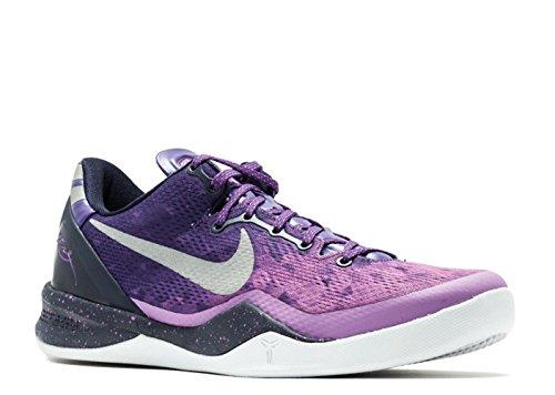 Nike Mens Kobe 8 System Crt Prpl/Pr Pltnm-Blcknd Bl-Ls 555035-500