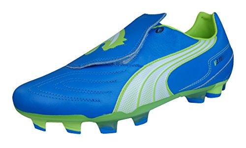 Puma V3.11 I Fg Scarpe Da Calcio In Pelle Da Uomo / Tacchetti Blu