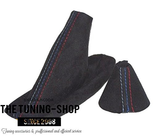 The Tuning-Shop Ltd For Bmw E46 1998-2005 Automatic Smg Gear & Handbrake Gaiter Black Alcantara With Mpower ()