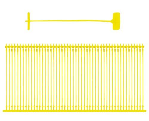 Amram 3 Inch Standard Tagging Attachments 5000 Pieces 50 Per Clip Yellow