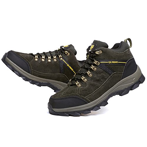 BERTERI Green Men's Backpacking Boot Outdoor Shoe Hiking Hiker Leather Waterproof rrOzqd