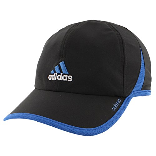 3d Logo Hat (adidas Mens Adizero Ii Cap, Black/EQT Blue, One Size )