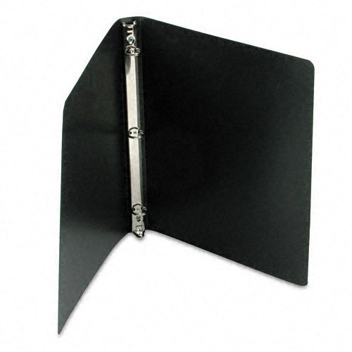 ACCO AccoHide Round Ring Binder, 8.5 x 11 Inches, 1/2 Inch Capacity, Flexible Cover, Black (A7039701A)
