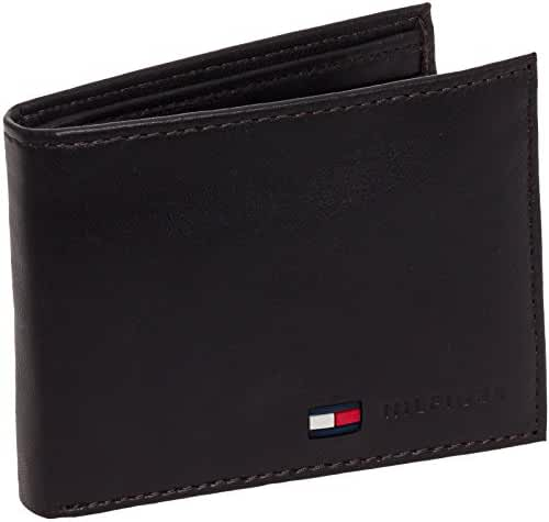 Tommy Hilfiger Men's Stockton Leather Passcase Billfold Wallet