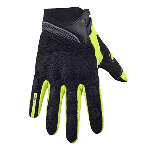 - Motorcycle Gloves Summer Full Finger Protective guantes moto Motocross luva motociclista, green,XXL