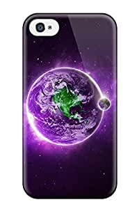 CaseyKBrown Snap On Hard Case Cover Purple Earth Protector For Iphone 4/4s