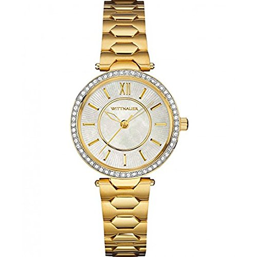 Wittnauer Womens WN4028 18mm Stainless Steel Gold Watch Bracelet ()