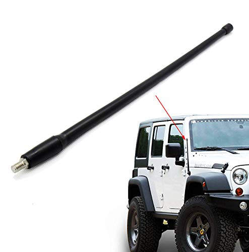 - REDWOLF for Jeep Liberty 2003-2007 Off-Road Short Antenna Mast 13 inch Rubber Replacement AM/FM Reception