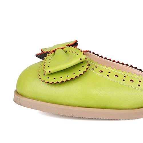 Balamasa Flickor Spets Prydnad Fast Mjuk Materialpumpar-skor Gröna