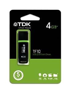 TDK TF10 - Memoria USB 2.0 de 4 GB, negro