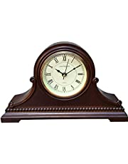 """Vmarketingsite Mantel Clocks, Battery Operated, Silent Wood Table Clock with Westminster Chimes On The Hour, Solid Wooden Shelf Decorative Chiming Mantle Clock, 9"""" x 16"""" x 3"""""""