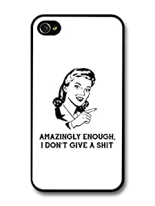 Amazingly Enough I Dont Give Funny Retro Quote Design carcasa de iPhone 4 4S
