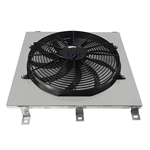 Primecooling Radiator Fan (16 Inches Dia.) Shroud for Chevy C/K Series Truck Pickup 1947- 1954