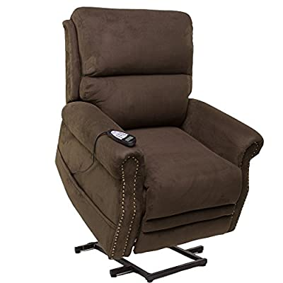 Seven Oaks Power Lift Recliner for Seniors | Electric Chair for the Elderly with Heated Massage | Adjustable Controls & Full Range of Motion | Soft Microfiber
