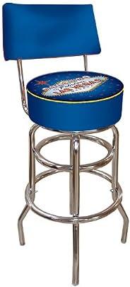Trademark Global Fabulous Las Vegas Padded Bar Stool with Back