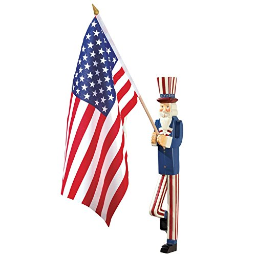 Uncle Sam Flag Holder Patriotic Wall Decor