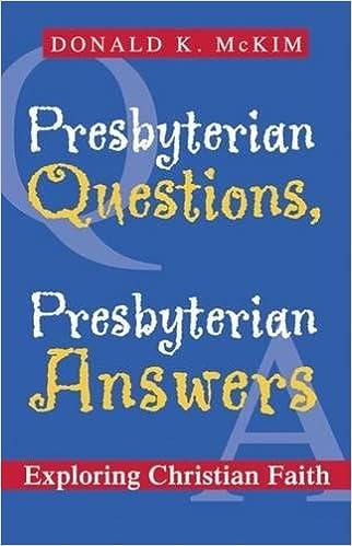 Amazon presbyterian questions presbyterian answers exploring presbyterian questions presbyterian answers exploring christian faith 1st edition fandeluxe Image collections