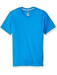 Hanes Playera para niño X-Temp Azul Camiseta de Manga Corta para Niños
