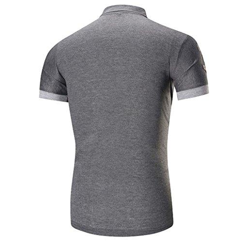 Oyeden Uomo Maglietta Per Estate Abbigliamento Uomini T Moda Grigio Casual La Gli Tees Di Manica Della Slim Top shirt Corta Shirt Calde rqfwAr