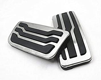 for Benz GLK C//E SLS//SL//CLS SLK//S Class No Drill Non-Slip Performance Car Rest Pedal Brake and Gas Pedal Covers Accessories Replacement Pedal Aluminum Alloy Pedals Set at 2Pcs