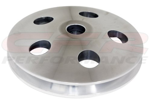 Chevy/ford/gm Aluminum Press Fit Type II Power Steering Pump Pulley - Polished