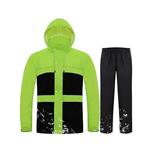 Vert Fluorescent X-grand DQMSB Imperméable imperméable, imperméable, imperméable, imperméable réutilisable (Couleur   Noir, Taille   M)