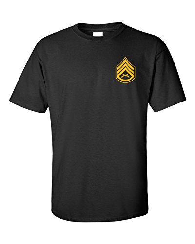 US Marine Corps Staff Sergeant T-Shirt with EGA (X-Large, Black) (Marine Corps Staff Sergeant)