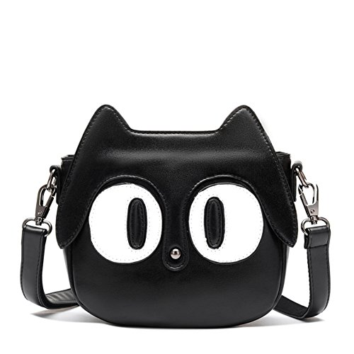 MAINLYCOR CHB880453C4 New Style PU Leather Cute Cartoon Women's Handbag,Round Kitten - Exchange Outlet Ax