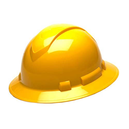 Pyramex Safety Products Ridgeline Full Brim Hard Hat 4 Point Ratchet, Yellow from Pyramex Safety