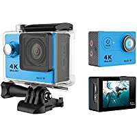 Auphi Waterproof 1080P Ultra HD Sport Action Camera with Wireless WIFI Function(blue)
